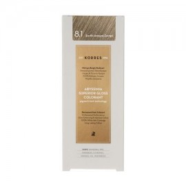 KORRES ABYSSINIA SUPERIOR GLOSS COLORANT 8.1 LIGHT ASH BLONDE