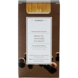 KORRES ARGAN OIL ADVANCED COLORANT 8.3 GOLDEN/HONEY LIGHT BLONDE