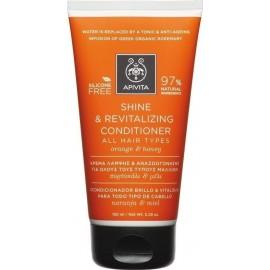 APIVITA SHINE & REVITALIZING CONDITIONER ALL HAIR TYPES ORANGE & HONEY 150ML