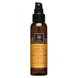 APIVITA RESCUE HAIR OIL NOURISHING & REPAIRING ARGAN & OLIVE 100ML