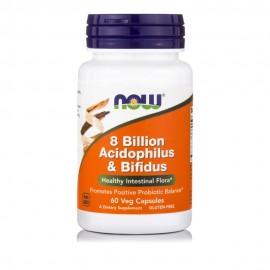 NOW ACIDOPHILUS/BIFIDUS 8 BILLION 60VCAPS