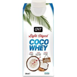 QNT Light Digest Coco Whey Isolate Protein Coconut Water Neutral 330ml
