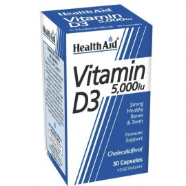 HEALTH AID VITAMIN D3 5000I.U 30CAPS
