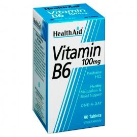 HEALTH AID VITAMIN B6 100MG 90 VTABS