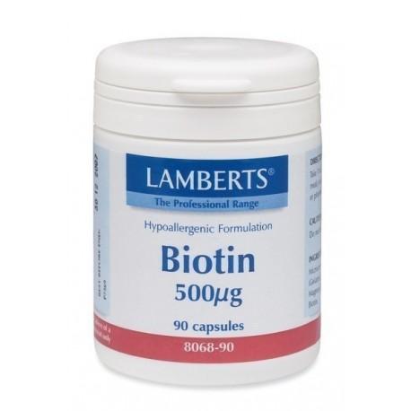 LAMBERTS BIOTIN 500MCG 90CAPS