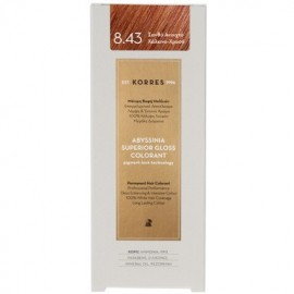 KORRES ABYSSINIA SUPERIOR GLOSS COLORANT 8.43 COPPER GOLDEN LIGHT BLONDE