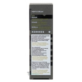 KORRES BORAGE MENS MOISTURIZER ANTI-SHINE SPF6 50ML