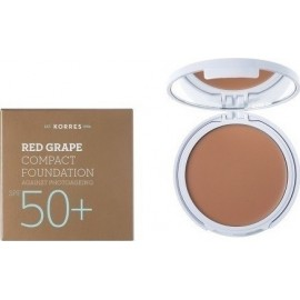 KORRES RED GRAPE SPF50+ COMPACT FOUNDATION MEDIUM SHADE 8GR