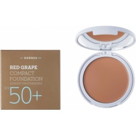KORRES RED GRAPE SPF50+ COMPACT FOUNDATION LIGHT SHADE 8GR