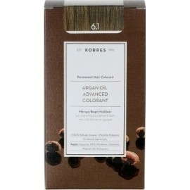 KORRES ARGAN OIL ADVANCED COLORANT 6.1 ASH DARK BLONDIE