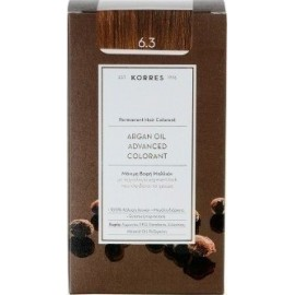 KORRES ARGAN OIL ADVANCED COLORANT 6.3 GOLDEN/HONEY DARK BLONDE