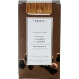 KORRES ARGAN OIL ADVANCED COLORANT 7.3 GOLDEN/HONEY BLONDE