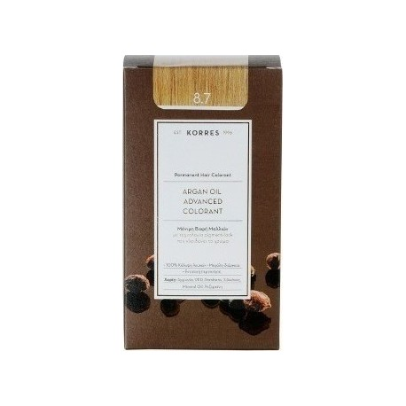 KORRES ARGAN OIL ADVANCED COLORANT 8.7 TOFFEE