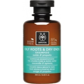 APIVITA OILY ROOTS & DRY ENDS SHAMPOO NETTLE & PROPOLIS 250ML