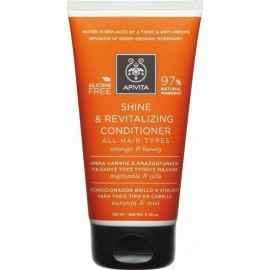 APIVITA SHINE & REVITALIZING CONDITIONER ALL HAIR TYPES ORANGE & HONEY 150ML