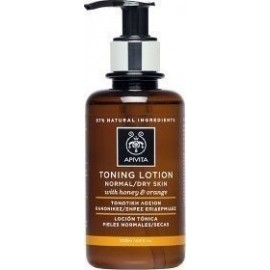 APIVITA TONING LOTION NORMAL-DRY SKIN WITH ORANGE & HONEY 200ML