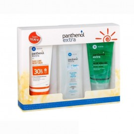 Panthenol Sun Care Body Milk SPF30 150ml & Glacier Face Water 250ml & Aloe Vera Gel 150ml
