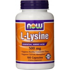 NOW L-LYSINE 500MG 100CAPS