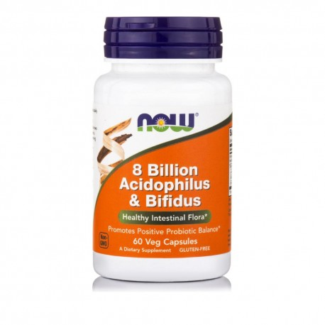 NOW ACIDOPHILUS/BIFIDUS 8 BILLION 60VCAPS