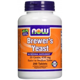NOW BREWERS YEAST 650 MG 200 TABS