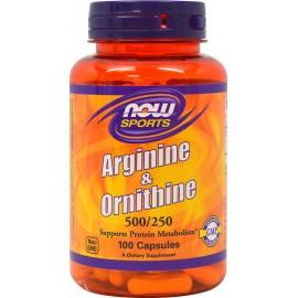 NOW SPORTS ARGININE-ORNITHINE 500/250MG 100CAPS
