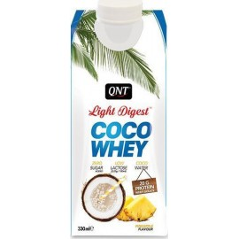 QNT Light Digest Coco Whey Isolate Protein Coconut Water Pineapple 330ml