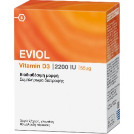 EVIOL VITAMIN D3 2200IU 55MG 60 CAPS