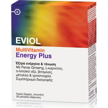 EVIOL MULTI VITAMIN ENERGY PLUS 30CAPS