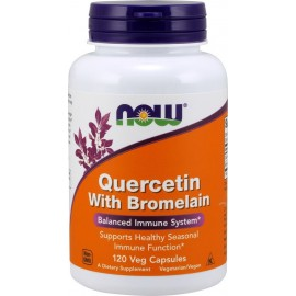 NOW QUERCETIN WITH BROMELAIN 120-VEG CAPSULES
