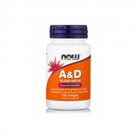 NOW VITAMIN A&D (10.000 IU+400 IU) 100SOFTGELS