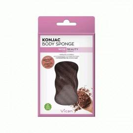 Vican Wise Beauty Konjac Body Sponge Red Clay Powder