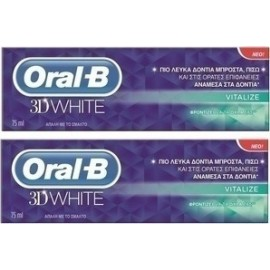 Oral-B 3D WHITE VITALISE 2 x 75ML