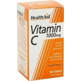 HEALTH AID VITAMIN C 1000MG 100 ΜΑΣΩΜΕΝΑ VETABS