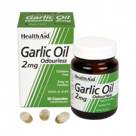 HEALTH AID GARLIC OIL 2MG 30 VCAPS