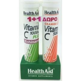 HEALTH AID VITAMIN C 1000MG ECHINACEA PLUS VITAMIN C 500MG