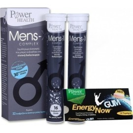POWER HEALTH MENS-X COMPLEX 32 TABS & ΔΩΡΟ ENERGY GUM 10TEM